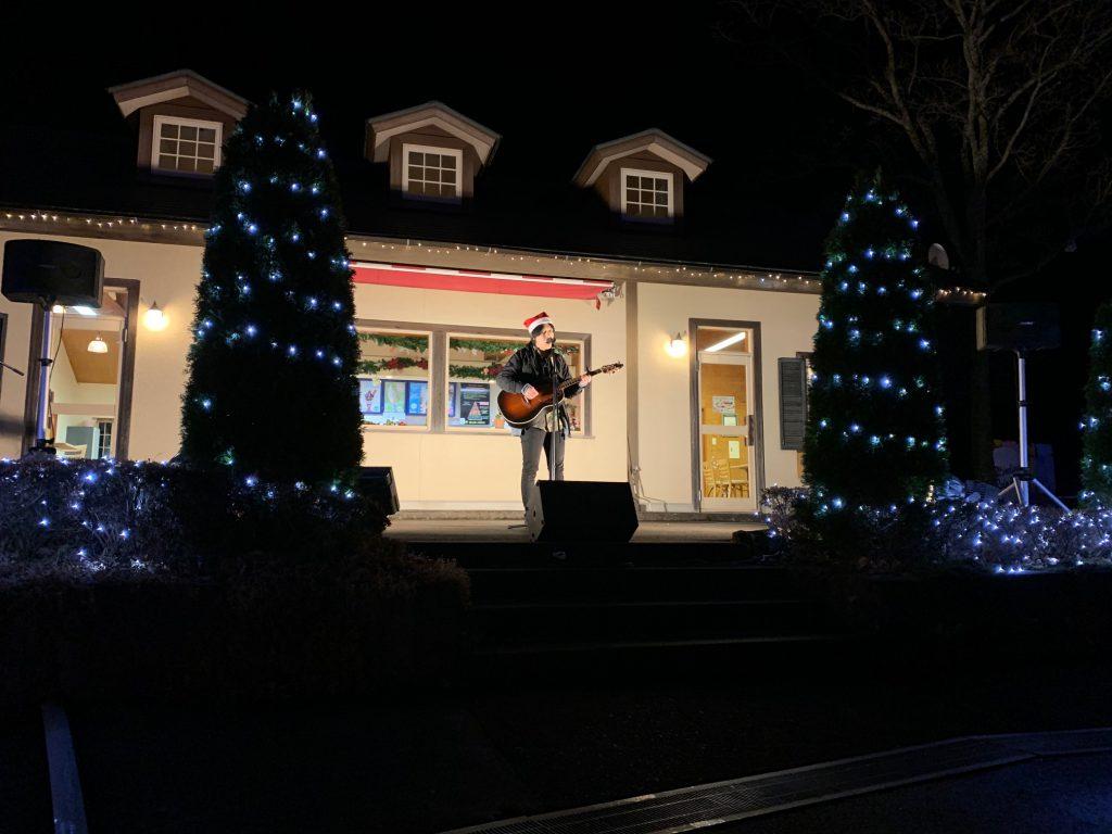 那須町 りんどう湖 クリスマス ライブ 小野崎健太 音響 マイク スピーカー